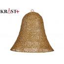 decorative golden christmas bell 30 cm
