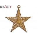 star gold metal decorative christmas 15