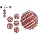 set of 3 christmas balls 8cm pink supply 6
