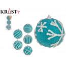 set of 3 christmas balls 8cm bluish, 6 times s