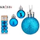 set of 20 blue christmas balls 3cm