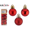 set of 20 red Christmas balls 3cm