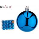 set of 24 dark blue 6cm christmas balls