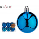 set of 12 dark blue 5cm christmas balls