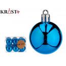 set of 12 dark blue 4cm christmas balls