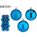 set of 20 blue christmas balls 7cm