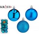 set of 20 blue christmas balls 6cm