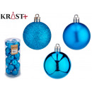 set of 24 christmas balls 5cm blue
