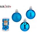 set of 20 christmas balls 4cm blue