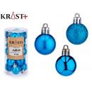set of 20 christmas balls 3cm blue