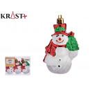Großhandel Figuren & Skulpturen: Satz von 3 Schneemännern Weihnachtsverzierung