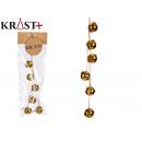 Christmas shiny gold bell strip 3cm