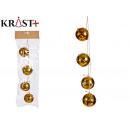 christmas ornament pendant 4 gold bell 6