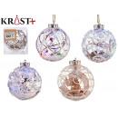transparent and white led christmas ball