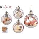 transparent christmas ball with 5 led 8cm