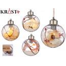 transparent christmas ball with 1 led 8cm