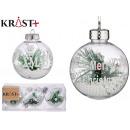 set of 3 transparent christmas balls with arb