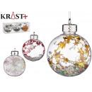 set of 3 shiny christmas balls assorted 3