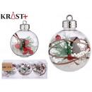 set of 3 transparent christmas balls decorac