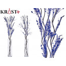 wholesale Other: blue corsage christmas black stick, 2 times ...