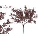 Großhandel Kunstblumen: helle Corsage Big Leaf Chocolat
