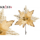 wholesale Other: Christmas flower fabric 25cm gold