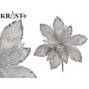 Christmas decorative flower 25cm silver