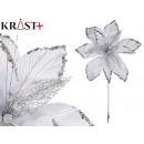 Christmas decorative flower 30cm white