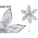 Christmas decorative flower 40cm white