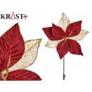 virág szövet karácsonyi 25cm-es gránát