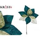 flor tela navidad 30cm verde