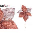 Blumenstoff Weihnachten 30cm rosa