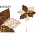 tissu de fleurs noël 30cm chocolat