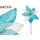 flower fabric christmas 40cm blue