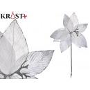 flor tela navidad 40cm blanca