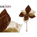 flor tela navidad 40cm chocolate