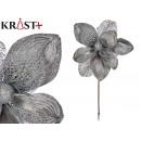 christmas flower velvet 30cm silver