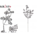 wholesale Food & Beverage: branch with 3 shiny leaves 66cm silver