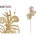 wholesale Food & Beverage: branch with 3 shiny leaves 90cm gold