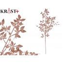 ingrosso Home & Living: ramo luminoso con decoro foglie 90cm champa
