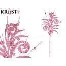 wholesale Other: branch wavy leaf 54cm pink