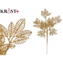 wholesale Food & Beverage: shiny branch with 7 leaves 60cm gold