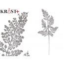 mayorista Alimentos y bebidas: rama hojas purpurina 88cm plata