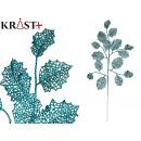 mayorista Alimentos y bebidas: rama hojas purpurina 66cm azul