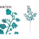 mayorista Alimentos y bebidas: rama hojas purpurina 80cm azul