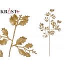 mayorista Alimentos y bebidas: rama hojas purpurina 80cm oro