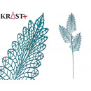 mayorista Alimentos y bebidas: rama 3 hojas purpurina 90cm azul