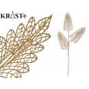 mayorista Alimentos y bebidas: rama 3 hojas purpurina 90cm oro