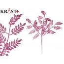 mayorista Alimentos y bebidas: rama 7 hojas purpurina 60cm rosa