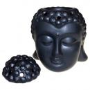 Großhandel Duftlampen: Buddha Kopfölbrenner - Schwarz
